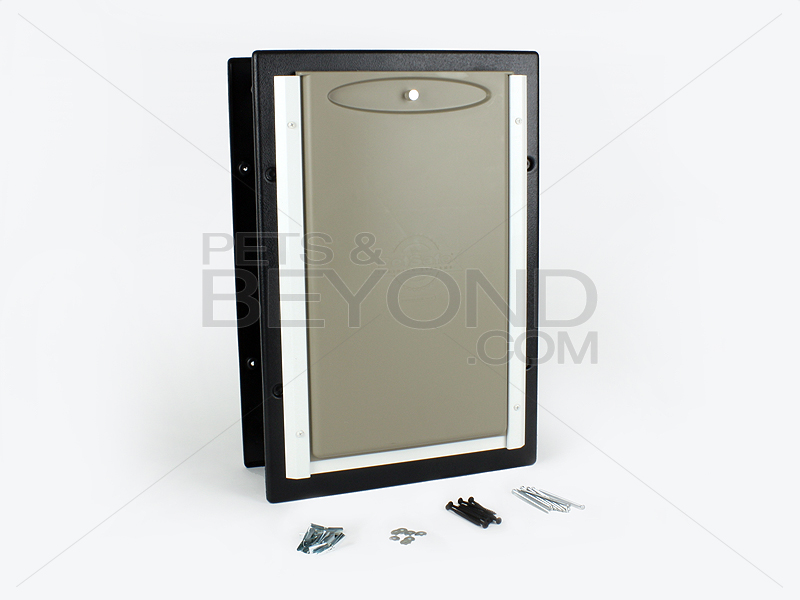 Petsafe wall entry aluminum insulated large pet dog door for Insulated entry door